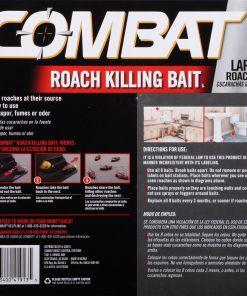 Combat Roach Killing Bait, Large Roach Bait Station, Kills the Nest, Child-Resistant, 8 Count