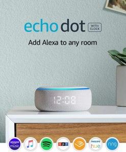 Echo Dot (3rd Gen) Smart Speaker With Clock and Alexa