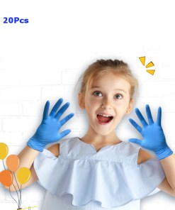 20Pcs Disposable Children Food-grade Latex Nitrile Gloves Mecical Protective Glove For Catering Home School