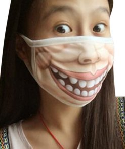 Creative Mischievous Mouth Mask Anti-Dust Warm Face Masks A_Adult section
