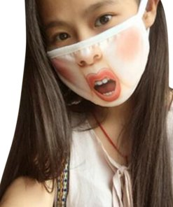 Creative Mischievous Mouth Mask Anti-Dust Warm Face Masks C_Adult section