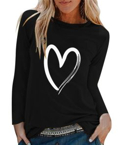 Winter Tshirt Womens Casual Print Shirts O-neck Long Sleeve Top Loose T-shirt 3xl Basic Clothing Camisas De Moda Mujer 2020
