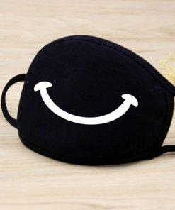 Men Women Riding Cotton Mask Dust-proof Fashion Black Facial Expression Teeth Warm Mask KZ-3011