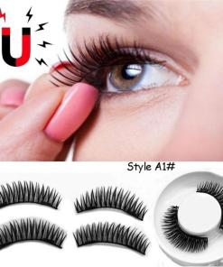 4pcs 3D Magnetic False Eyelash Double Magnet Full Strip Magnetic Lashes Soft