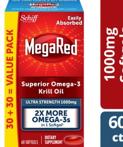 MegaRed Omega-3 Krill Oil Ultra Strength Softgels, 1000 mg, 60 ct