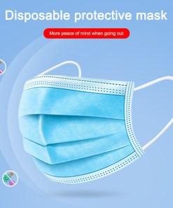 10 Pcs/set Disposable Civilian Mask Mouth Anti Virus Mask 3-Ply Anti-Dust Nonwoven Mask (10Pcs)