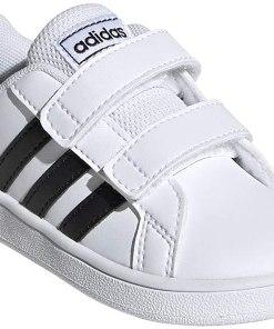 adidas Kids' Grand Court Hook and Loop Sneaker