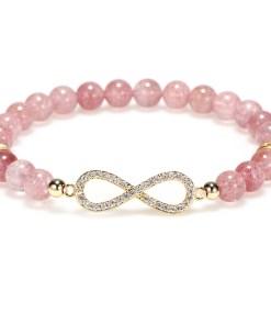 New Women natural Strawberry Zircon Bracelet