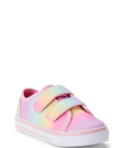 Wonder Nation Toddler Girls Pastel Rainbow Casual Two Strap Sneakers