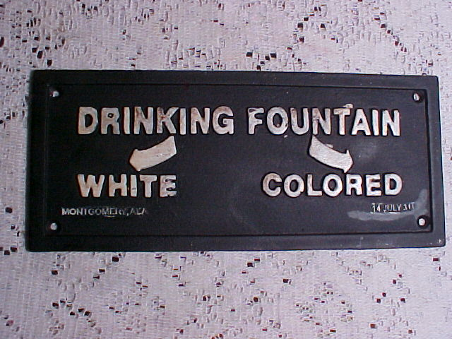 segregation drinking fountain
