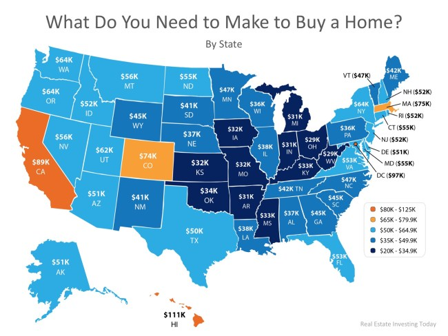 How Much Do You Need to Make to Buy a Home in Your State? | Simplifying The Market