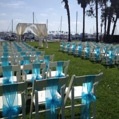 Turquoise Lounge Chair Baseball Bean Bag Target Marina Village Weddings - Patty's Linen Rentals