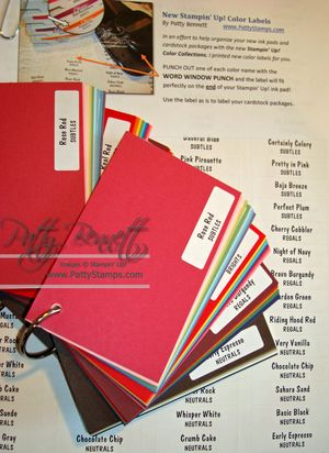 New color swatches and labels