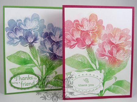 Pastel sweet floral cards