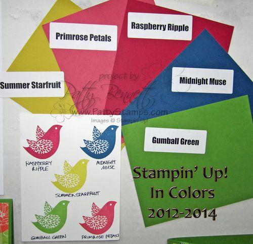 In colors stampin up display