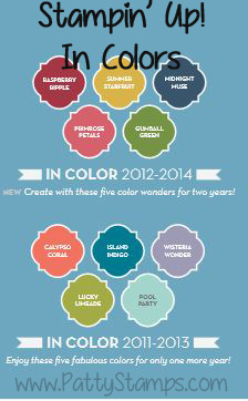 Stampin up in colors