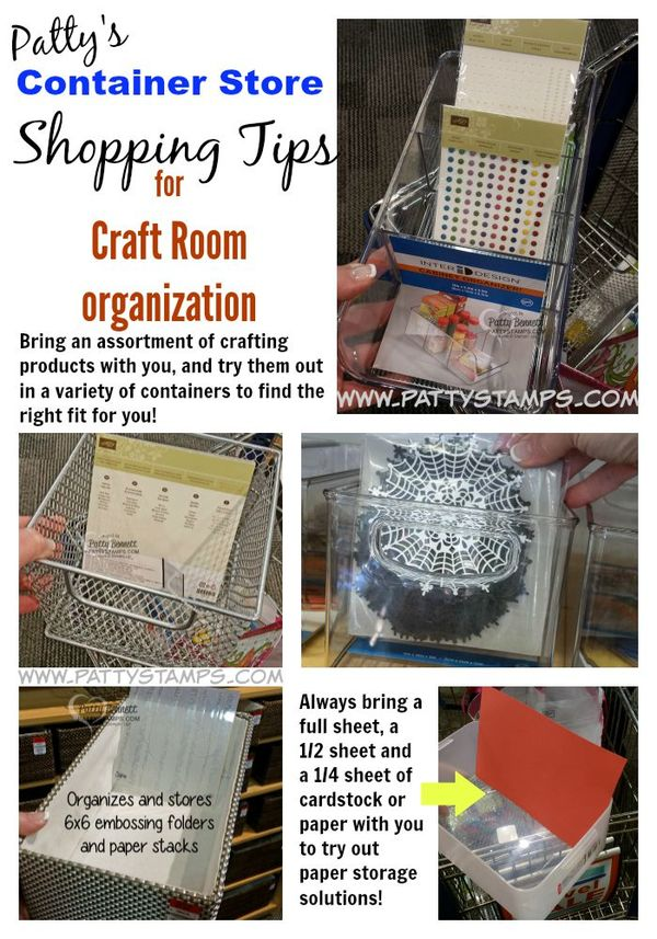 Container-store-organizing-shopping-tips-craft-room-pattystamps