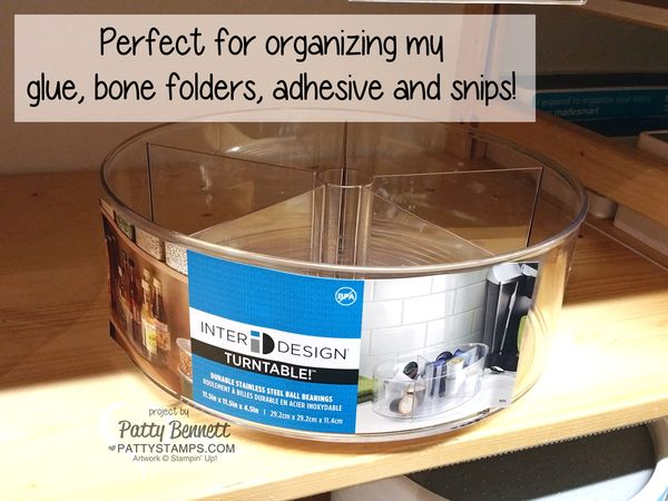 Container-store-organize-glue-snips-pattystamps-turntable