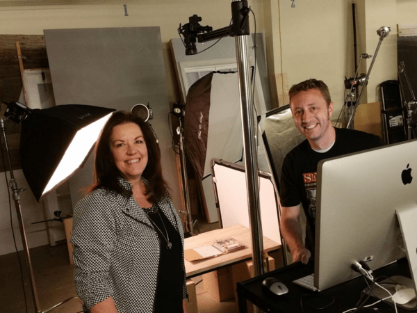 Stampin' UP! photography studio photo shoot of Patty's Million dollar achiever trip and my Project Life album with Dirk!