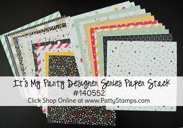 Occasions 2016 its my party paper stack stampin up pattystamps