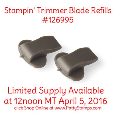 126995 stampin up trimmer blades pattystamps