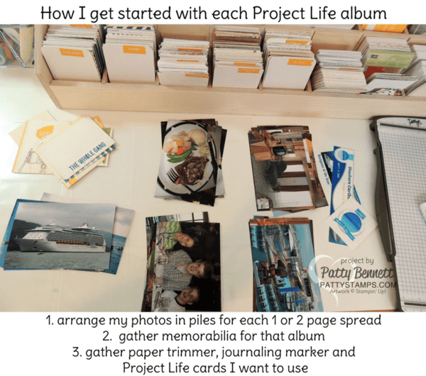 How I get started with my Stampin' Up! - Memory Keeping with Project Life Happy Times kit by Patty Bennett #PLXSU