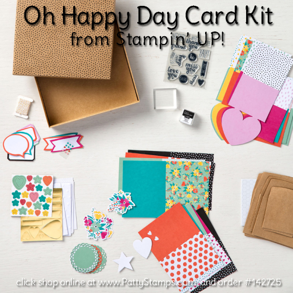 142725 oh happy day card kit contents stampin up pattystamps