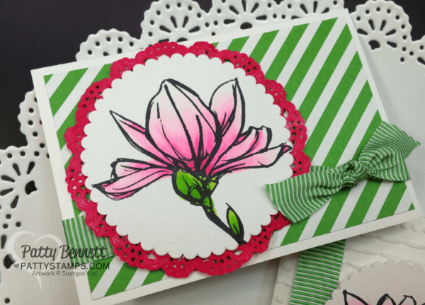 Remarkable You note card colored with Copic Markers  by Patty Bennett.  Images from Stampin' UP!