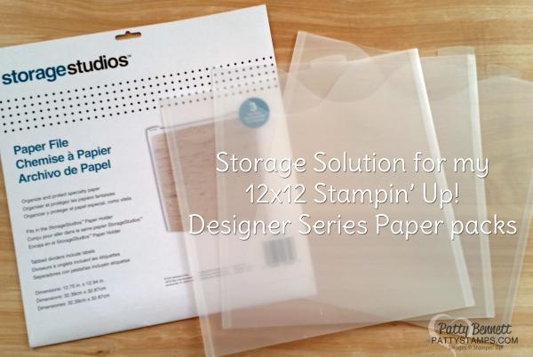 12x12 paper holder storage studios envelopes