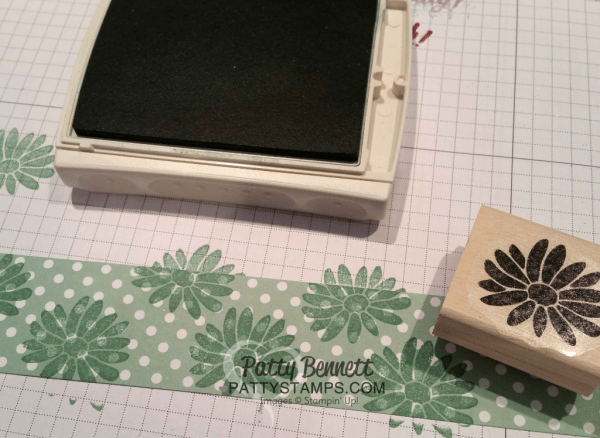 Have fun - stamp in printed designer paper for a whole new look! Stampin' UP! Special Reason flower stamp.