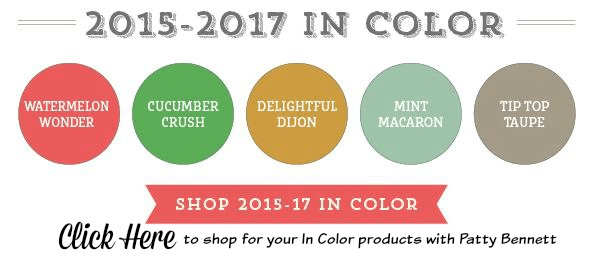 Retiring Stampin' UP! In Colors 2015 to 2017. Click Shop online at www.PattyStamps.com