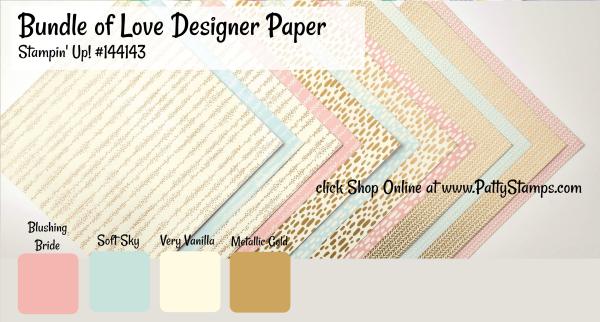 144143 bundle of love dsp stampin up color combo pattystamps shop online