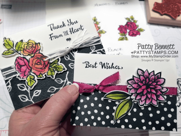 Watercoloring tips for the Petal Palette stamp set and Stampin' Up! watercolor pencils with Patty Bennett