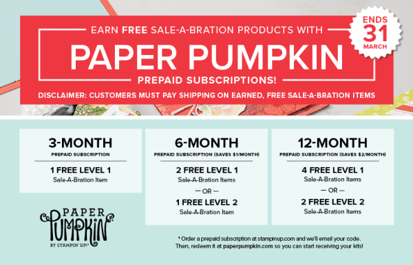 Free sale a bration gifts with paper pumpkin stampin up pattystamps