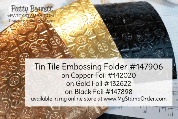Amazing Tin Tile embossing folder from Stampin' Up! - order #147906 at www.MyStampOrder.com
