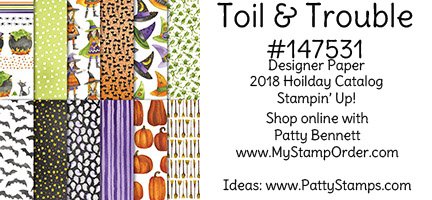 147531 Toil & Trouble Halloween paper from Stampin' UP! available at www.MyStampOrder.com