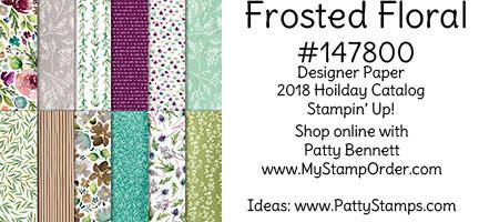 147800 Frosted Floral designer paper from Stampin' UP!  Order for limited time only: www.MyStampOrder.com