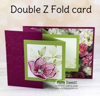 Double Z Fold Floral Card Idea