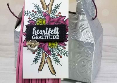 Gable Box embossed with Tin Tile Embossing Folder
