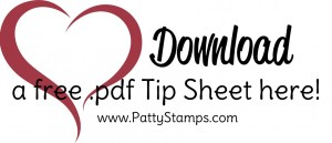 Free Project Sheet download for Stampin' UP! paper crafting project by Patty Bennett, www.PattyStamps.com