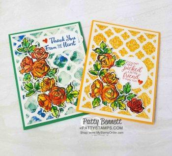 Florentine Lattice Background for Petal Palette cards