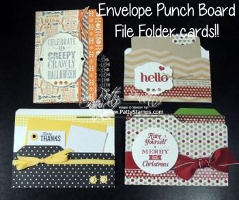 Envelope Punch Board File Folder Cards