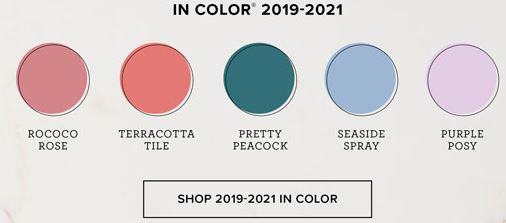 Stampin' Up! 2019 2021 In Colors available online at www.MyStampOrder.com