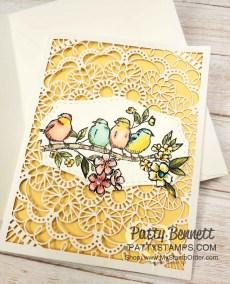 Bird Ballad Laser Cut Card with Stampin' Blends