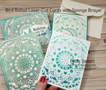 How to Brayer on Bird Ballad Laser-Cut cards