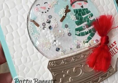 Snowman Snow Globe Shaker Card