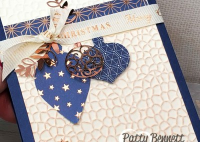 Brightly Gleaming Ornament Punch Christmas Card