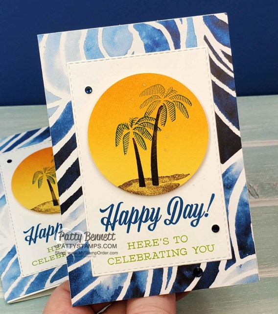 Stampin' UP! Friend Like You stamp set Happy Day card for my Luv 2 Stamp Group Maui Trip Achievers. www.PattyStamps.com