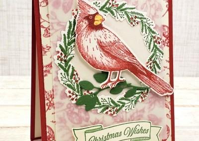 Toile Tidings Christmas Cardinal Card
