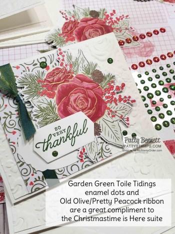 Garden Green Toile Tidings Enamel Dots!